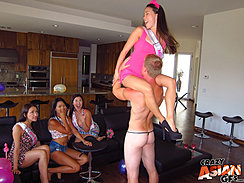 Sitting On Strippers Shoulders Girls Watching