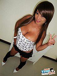 Gail Salutes Camera Hand In Skirt Wearing Black Leggings