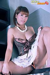 Sitting Down Skirt Raised Over Her Panties