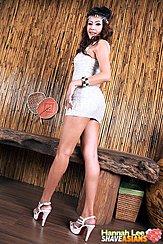 Looking Back In Short Dress Wearing High Heels