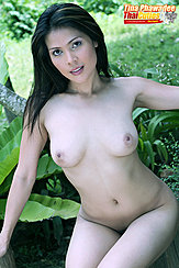 Sitting Down Naked Long Hair Bare Breasts Thighs Pressed Together