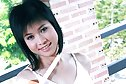 Short haired cutie Beau Suni strips while making breakfast
