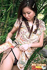 Miki Sukawa In Cheongsam Wearing Panties