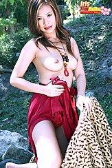Kneeling On Rug Topless Pert Breasts