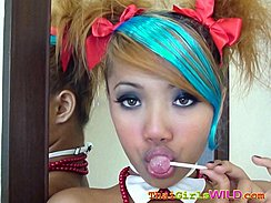 Air With Her Lips Around Lollipop