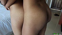 Girls Embracing Nude From Behind Bare Ass