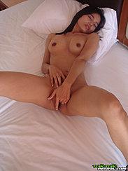 Lana Masturbating Nude On Bed